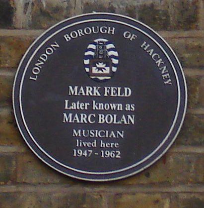 Marc Bolan Commemorative Brown Plaque Hackney London