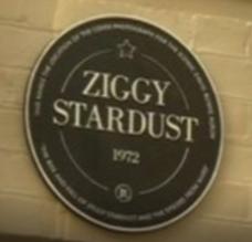 Plaque Erected At Site Of Ziggy Stardust Album Cover Photo Location