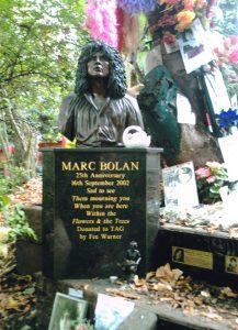 Marc Bolan Death Site Memorial Bust